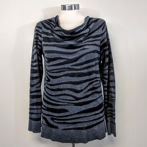 Dana Buchman Draped Neck Knit Top
